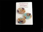 Tuliptree Duck Egg Oval Abstract Buttons
