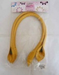Knit Pro Faux Leather Bag Handles - Yellow