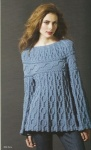 Filatura di Crosa Cabled Tunic Sweater Pattern
