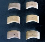 Kauni Dark Curved Edge Buttons