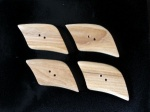 Kauni Dark Quadrilateral Buttons
