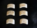 Kauni Light Curved Edge Buttons