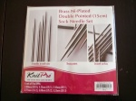 Knit Pro Double Pointed Brass Ni-Plated Sock Needle Set
