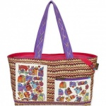 Laurel Burch Karly's Cats Shoulder Tote
