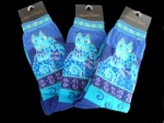 Laurel Burch Blue Felines Socks