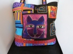 Laurel Burch Whiskered Cats Shoulder Tote