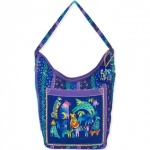 Laurel Burch Mythical Dogs Hobo Tote