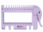 Knit Pro Elephant View Sizer and Needle Gauge - Lilac