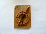 Maple Wood Circular Diamond Pierced Shawl Pin Set