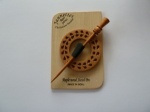 Maple Wood Circular Teardrop Pierced Shawl Pin Set