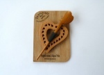 Maple Wood Pierced Heart Shawl Pin Set