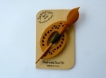 Maple Wood Pierced Oval Shawl Pin Set