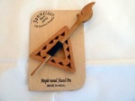 Maple Wood Triangular  Pierced Shawl Pin Set