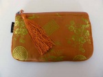 Mili Silk Accessories Pouch - Mango