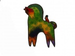 Laurel Burch Green and Orange Mythical Horses Iron  on Appliqué