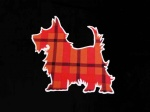 Red Check Scottie Dog Iron on Appliqué