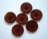 Rowan Brown Plastic Buttons