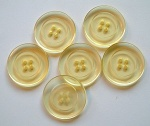 Rowan Lemon Plastic Buttons