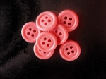 Rowan Opaque Red Plastic Buttons With Rims