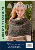 Patons Cable and Rib Snood Kit in Kilt