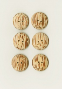 Wooden ''Tiger'' Buttons