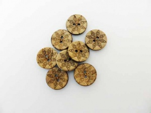 Coconut Shell Star Buttons