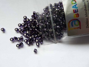 Debbie Abrahams Silver Lined Amethyst Beads Size 6/0