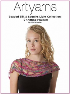 Artyarns Beaded Silk with Sequins Light #528 + Clear Beads and Free Pattern Book