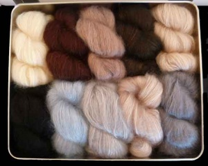Artyarns Silk Mohair Blanket / Shawl Kit - Annie's Colour Way