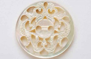 Rowan Fretwork Shell Buttons