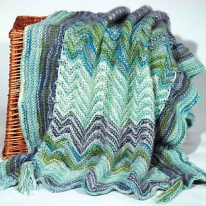 Artyarns Cashmere Sock Yarn Baby Blanket Kit - Boy Colour Way