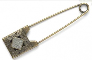 Rowan Bronze / Diamanté Shawl Pins