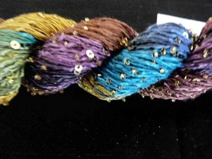 Artyarns Beaded Silk with Sequins Light #182 - Gold  Sequins + Free Pattern