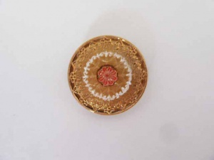Gold and Rose Flower Buttons