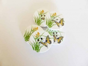 Yellow Butterfly Buttons