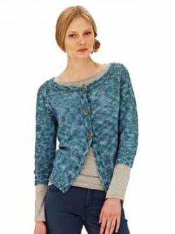 Rowan Cropped Cardigan in Summerspun