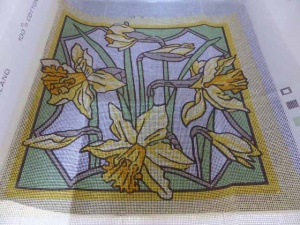 Valerie Green Daffodil Cross Stitch Cushion Cover Kit