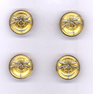 Dragonfly Buttons - Gold - Small Size