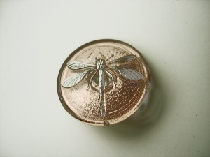 Dragonfly Buttons - Peach