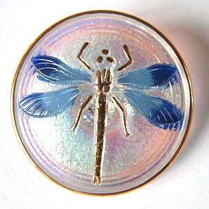 Dragonfly Buttons - Pink / Blue