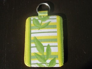 Elizabeth Austen Luggage Labels in Lime Leaf