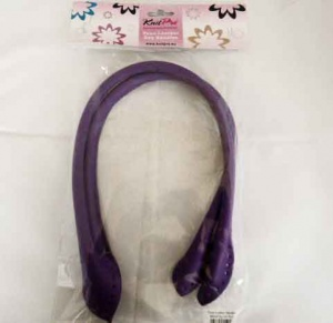 Knit Pro Faux Leather Bag Handles - Purple