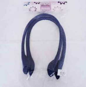 Knit Pro Faux Leather Bag Handles - Royal Blue