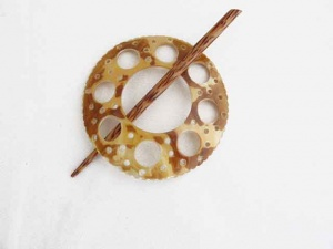 Mother of Pearl Circular Shawl Pin Set