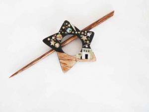 Star Shaped ''Arabian'' Shawl Pin Set