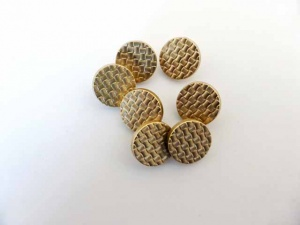 ''Gold'' Hammered Buttons