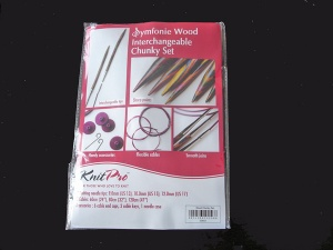 Knit Pro Symfonie Birch Interchangeable Starter Chunky Circular Needle Set