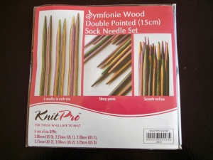 Knit Pro Symfonie Double Pointed Birch 15cm Sock Needle Set
