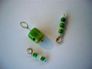 Knit Pro Zooni Beaded Stitch Markers - Grape Green