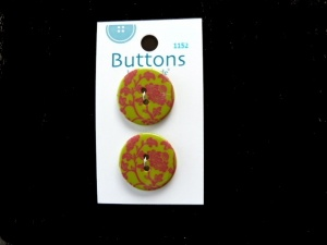 La Mode Burgundy and Olive Damask Buttons
